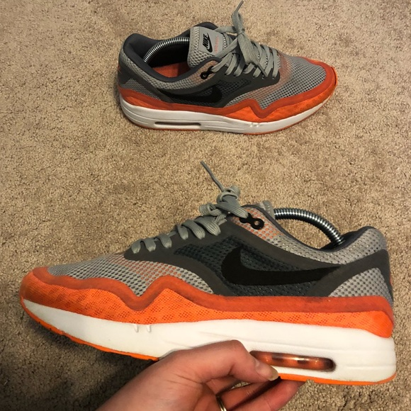 hot sale online 9f204 30dd4 Nike Air Max 1 Breathe Mesh Shoes Orange Mens 9. M 5b37e13a3c9844f792b828bf